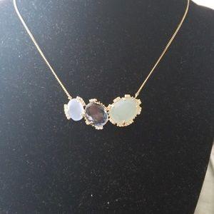 NWT Anthropologie Blue Crystal Adjustable Necklace
